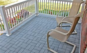 Porch Pavers & Railing