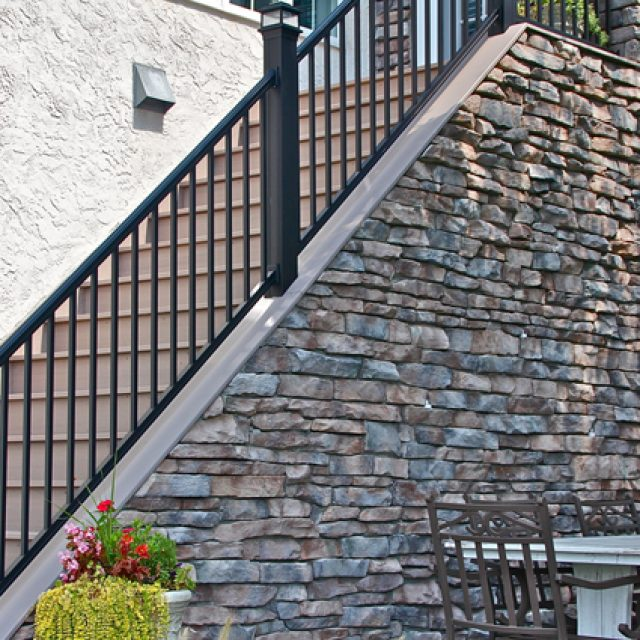 Stone Veneer Staircase