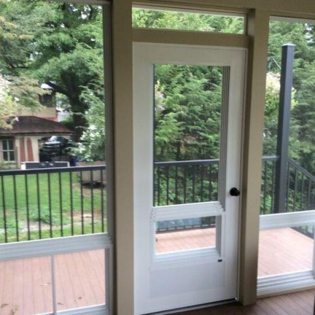 Door to Brownstown Porch