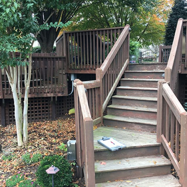 Old Stair and Railing