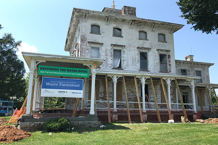 Historic Mayer Mansion Restoration Lancaster Pa Eby