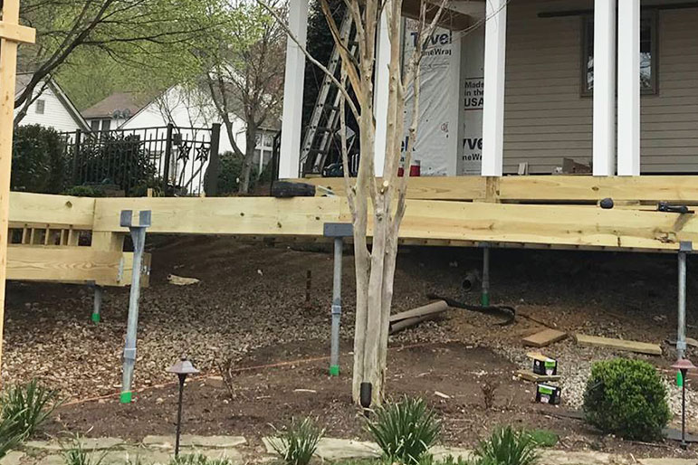 porch and porch foundation repair company