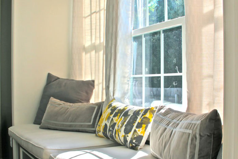 built-in living room window seat
