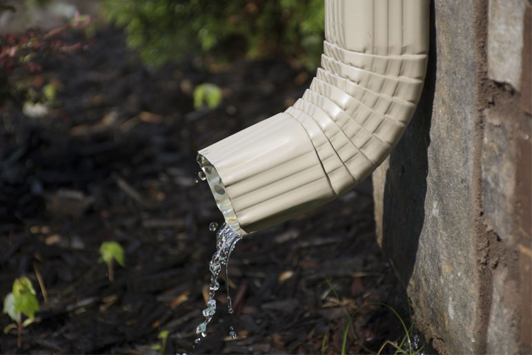 open downspout
