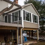 backyard sunroom and deck addition lancaster county pa