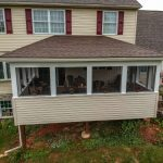 screened in porch addition with matching roof in york pa