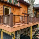deck with railing in grantville pa