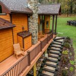 deck with railing and storage in grantville pa