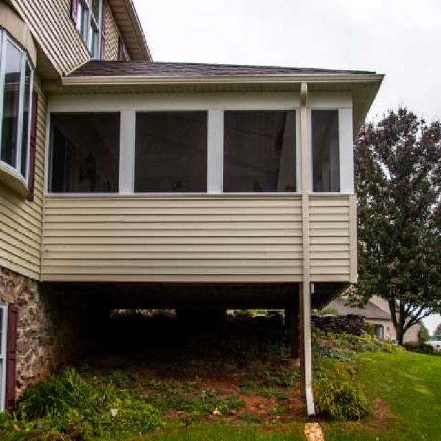 screened porch renovation using existing deck foundation in york pa