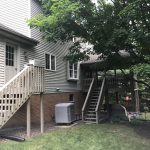 back porch renovation in lancaster pa before