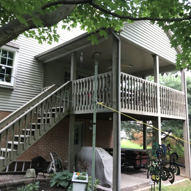 back porch renovation in lancaster county pa before