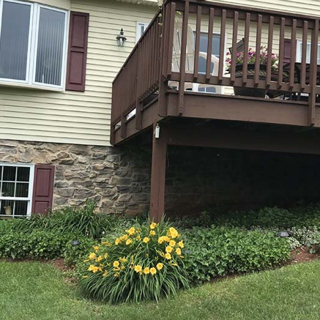 before deck replacement with sunroom addition in york pa
