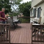 before deck renovation with sunroom addition in york pa