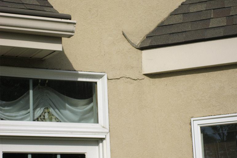stucco leak signs