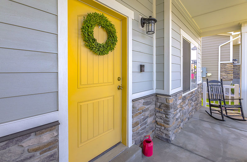 rustic front door design
