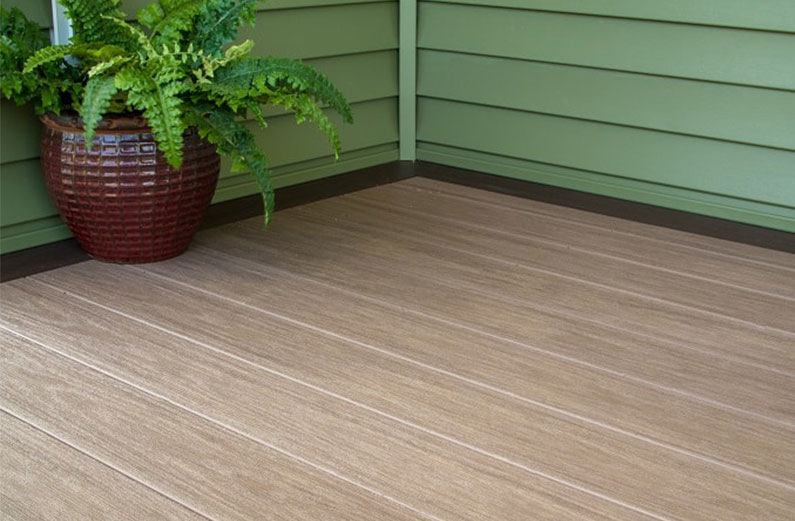 deck color schemes for a green house