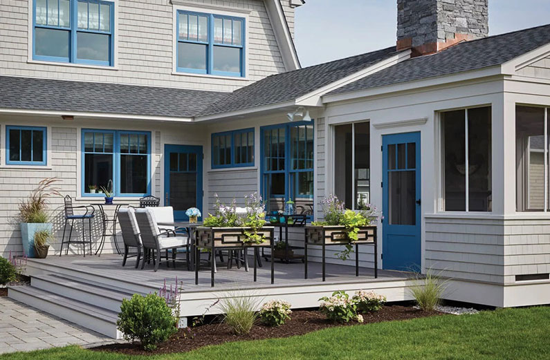 deck color trends for a gray house