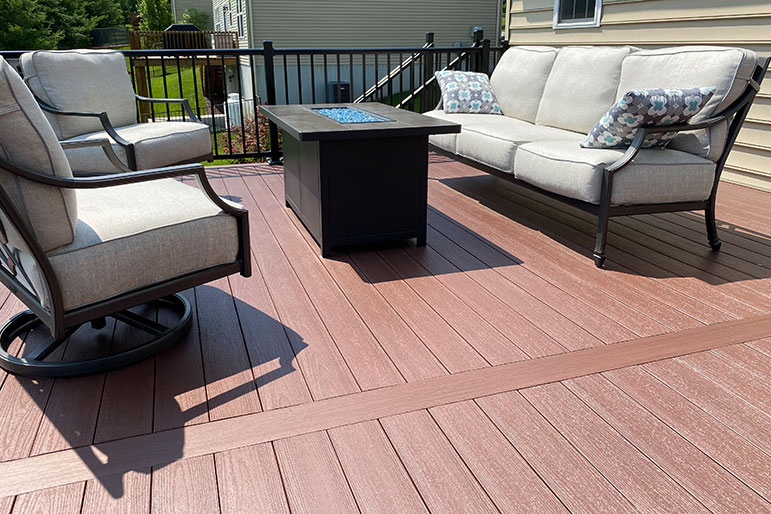capped premium polymer decking options