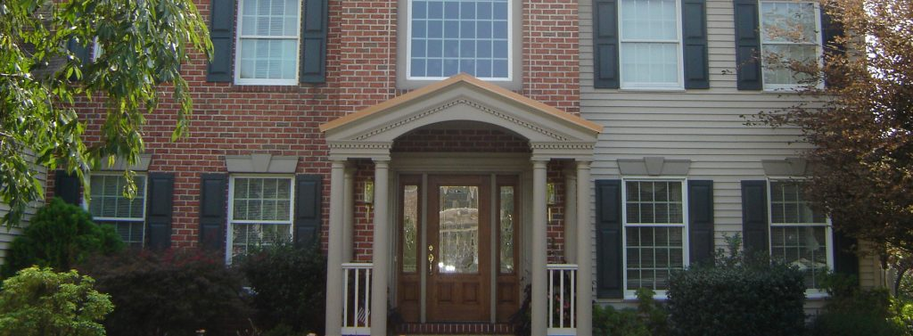 Front porch addition to home completed by Eby Exteriors in Lancaster PA