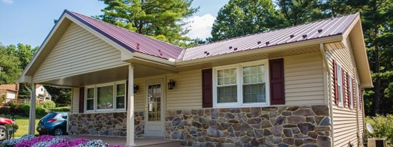 A metal roofing project completed by Lancaster County roofing specialists