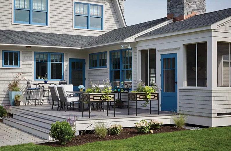 ground level deck patio combo