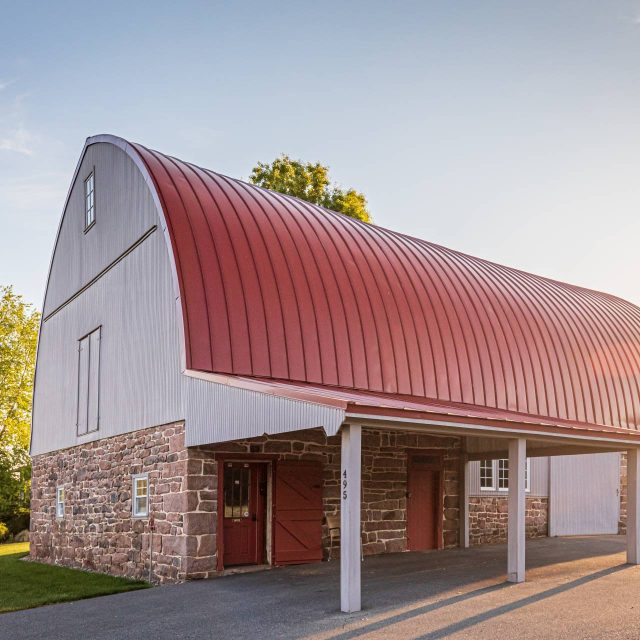 barn with large sliding doors