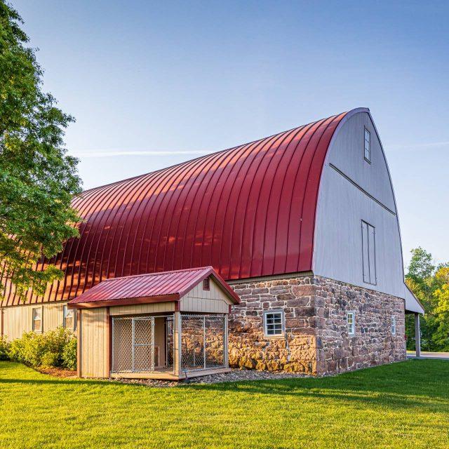 barn with new siding