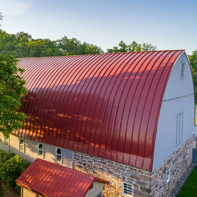 barn with recently installed siding