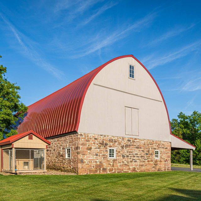 exterior barn renovation project