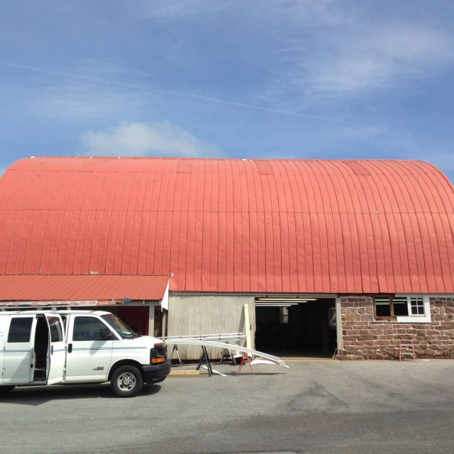 old barn before exterior renovation