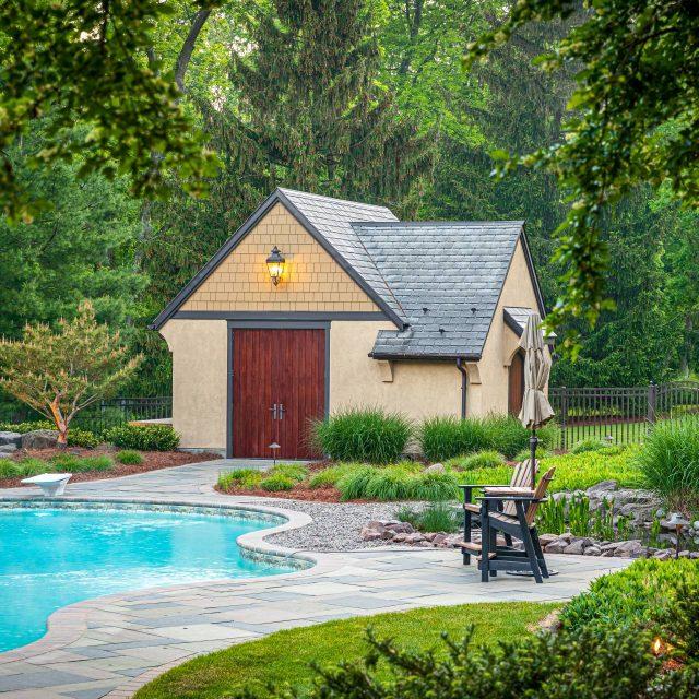 fiberglass pool house doors
